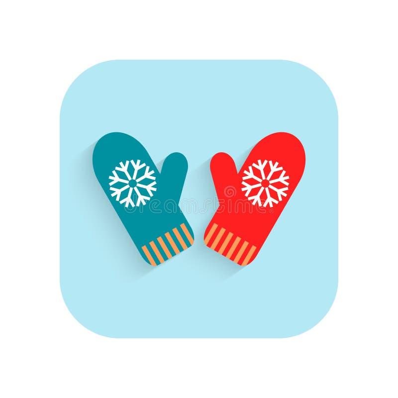mittens Jul sänker symbolen, feriesymbol vektor för designillustrationstjärnor stock illustrationer