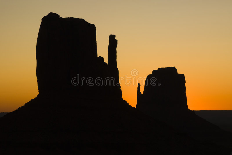 Mittens at sunrise royalty free stock images
