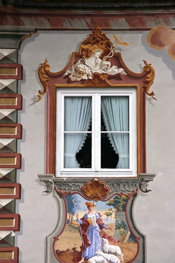 Mittenwald window stock image