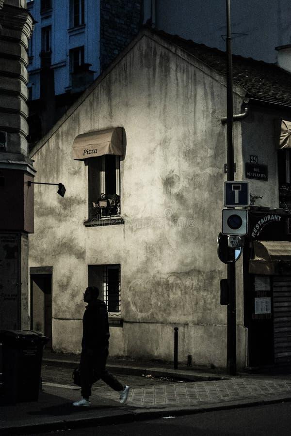 Mitternacht in Paris stockfotos