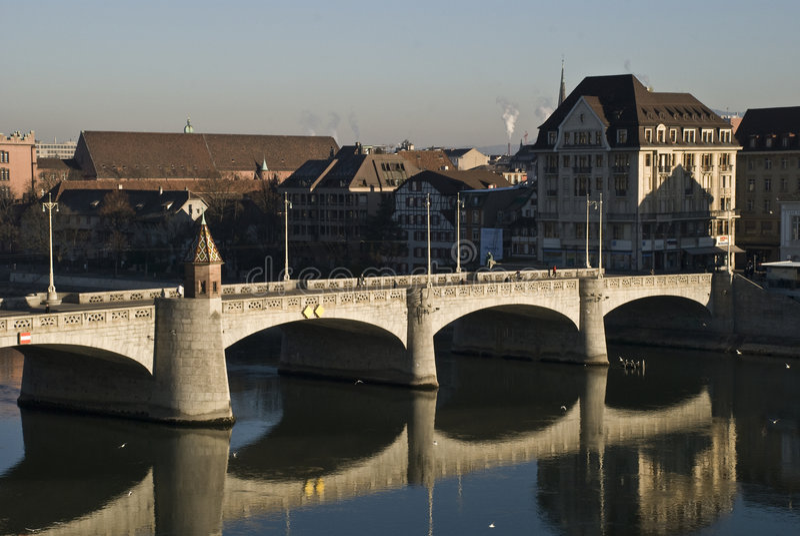 Mittlere Brücke; Bazel royalty-vrije stock afbeelding