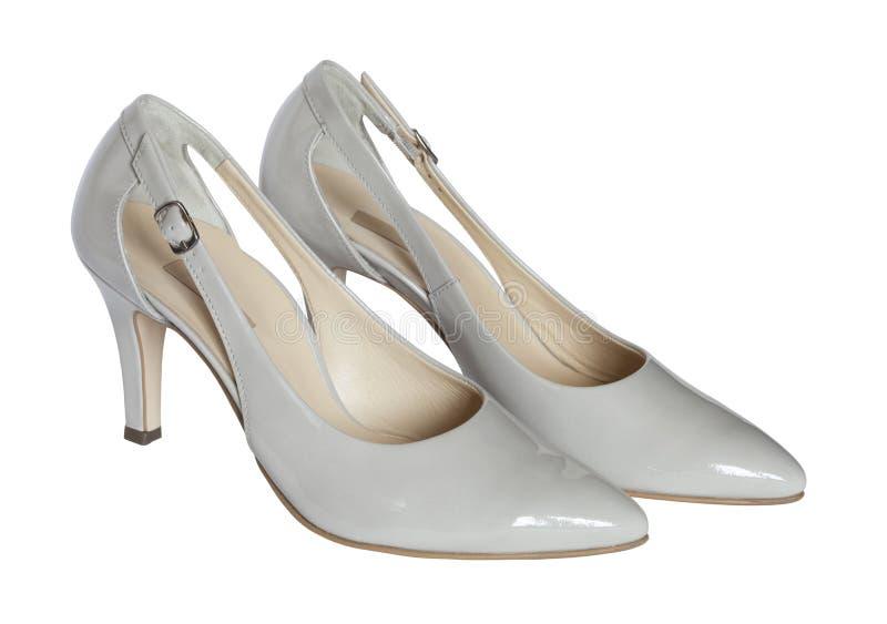 Mittlere Fersen-Gerichts-Schuhe lizenzfreies stockfoto