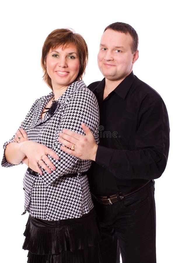 Mittlere gealterte Paare stockfotos