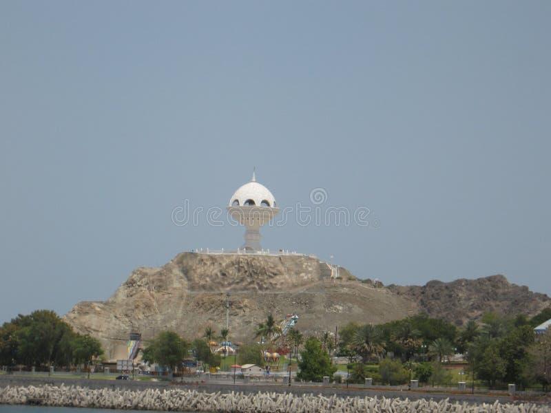 Mittlere Osten oder Afrika, malerische Strecke des kahlen Bergs und Landschaften einer gro?e sandige Talw?ste gestalten Fotografi stockfotografie