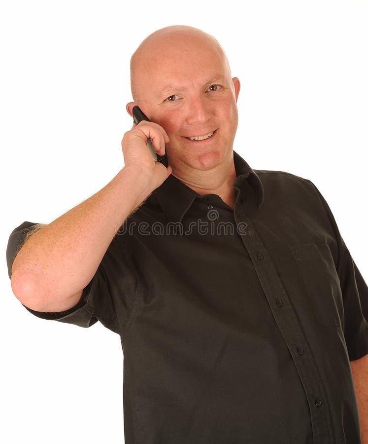 Download Mittlerer Gealterter Mann Am Telefon Stockbild - Bild von gespräche, zelle: 26363709