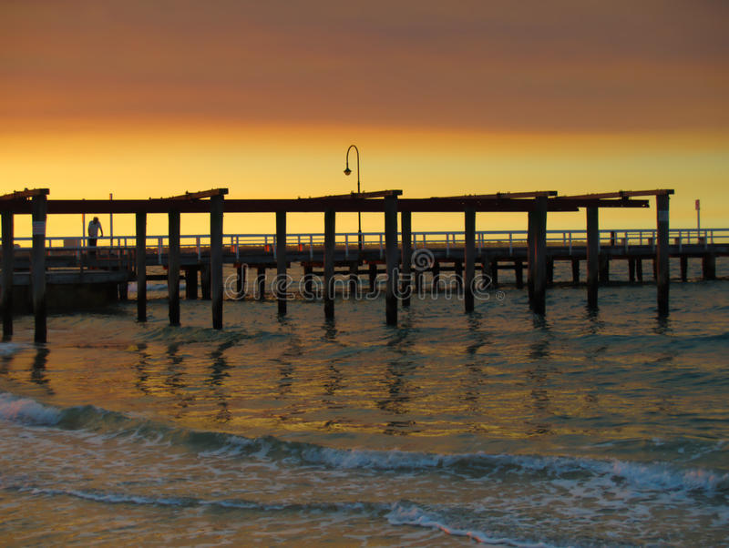 Mittlerer Park-Strand Melbourne lizenzfreie stockfotografie