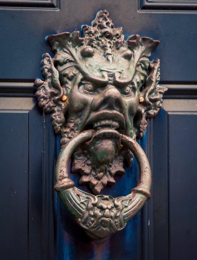Mityczny twarzy doorknocker obrazy royalty free