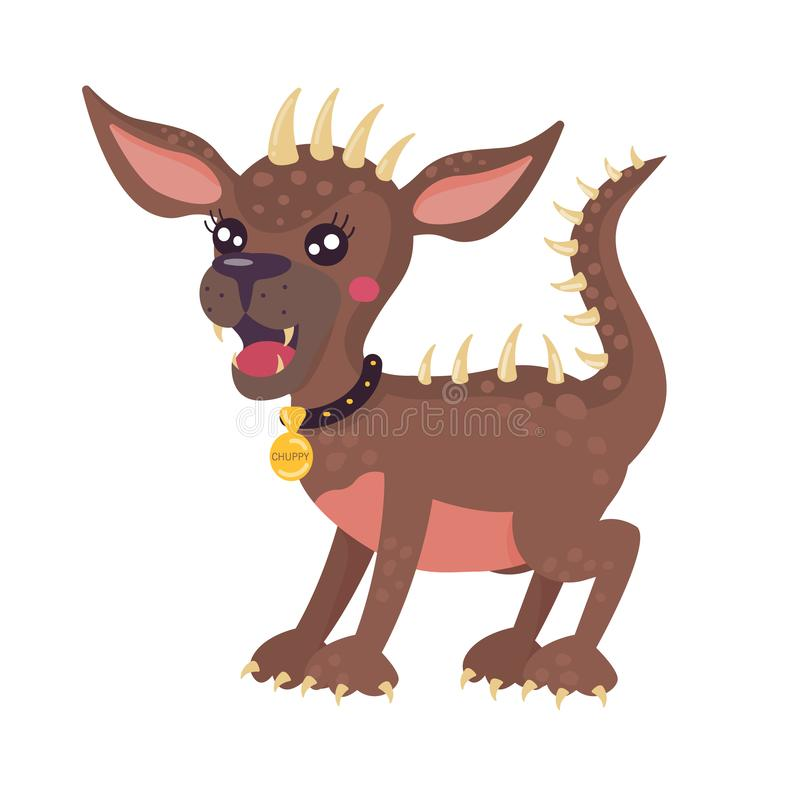 Mityczny zwierzęcy Chupacabra Stylizowany posta? z kresk?wki royalty ilustracja
