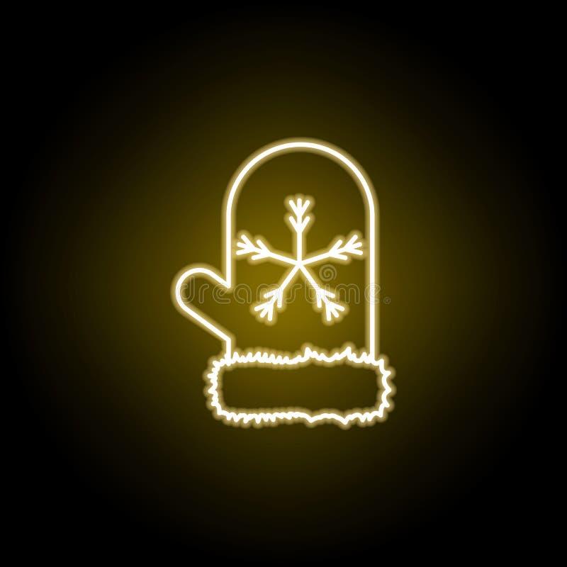 mitynki ikona w neonowym stylu Element podr??y ilustracja Znaki i symbole mog? u?ywa? dla sieci, logo, mobilny app, UI, UX ilustracja wektor