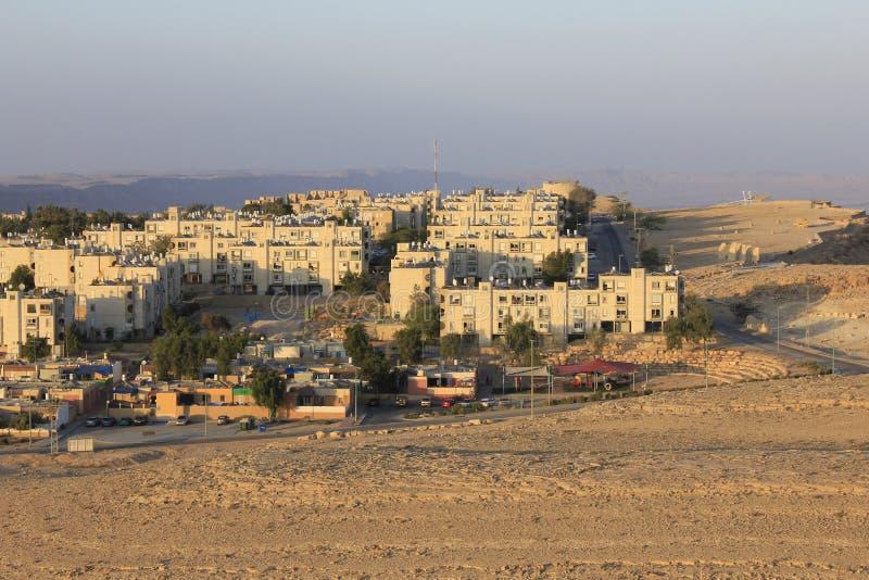 Mitzpe Ramon eine Stadt auf der Klippe lizenzfreies stockfoto