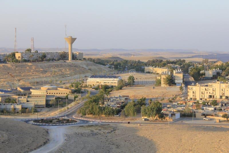 Mitzpe Ramon miasto na falezie fotografia royalty free