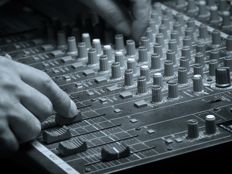 Download On the mix stock image. Image of mixer, producer, player - 14859055
