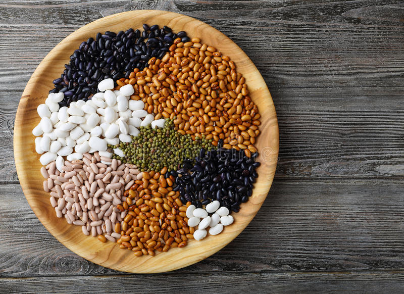 Mix of beans and lentils. Super food royalty free stock images