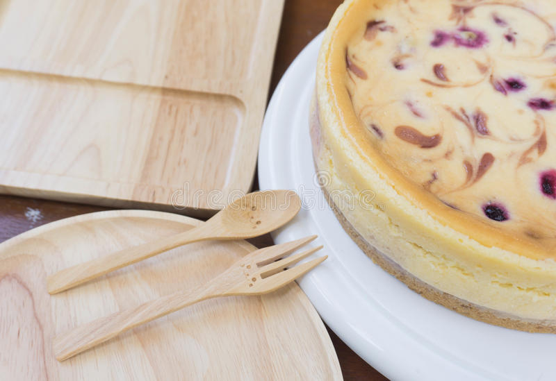 Mix berry cheesecake royalty free stock photo