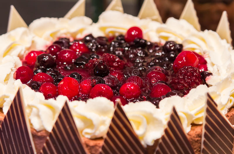 Mix blueberry chocolate cake