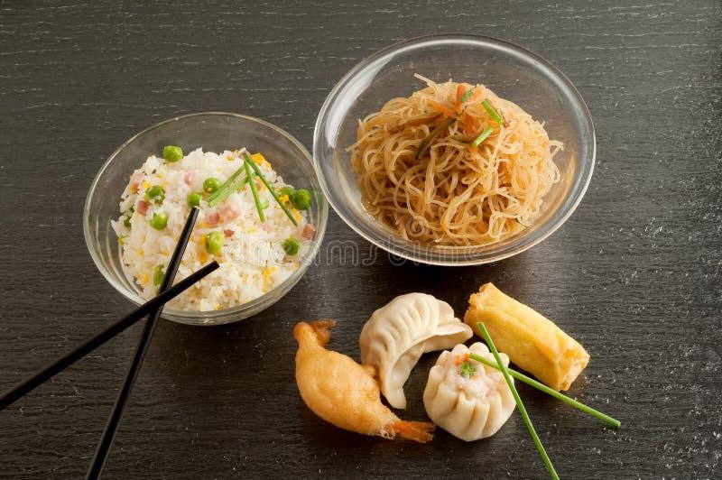 Mix of china food stock photo