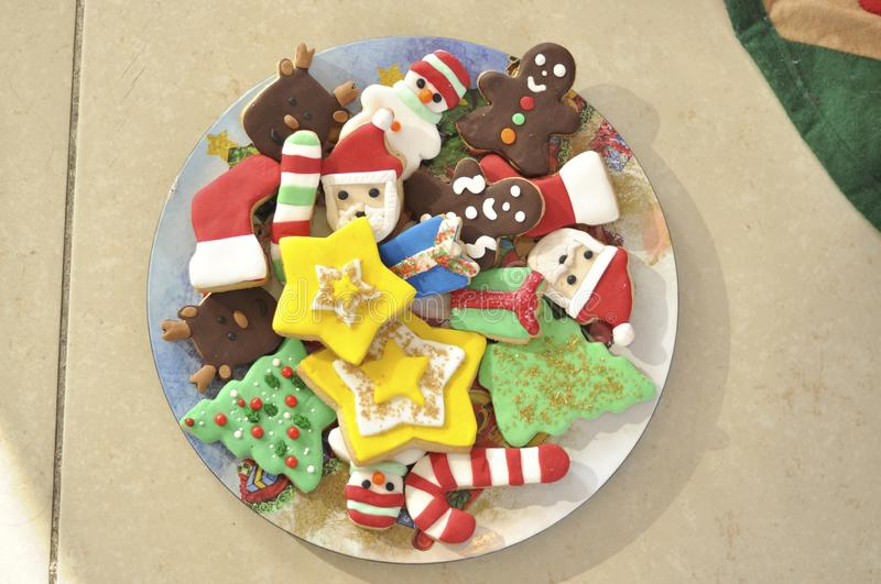 Cookies with special christmas design stock photos