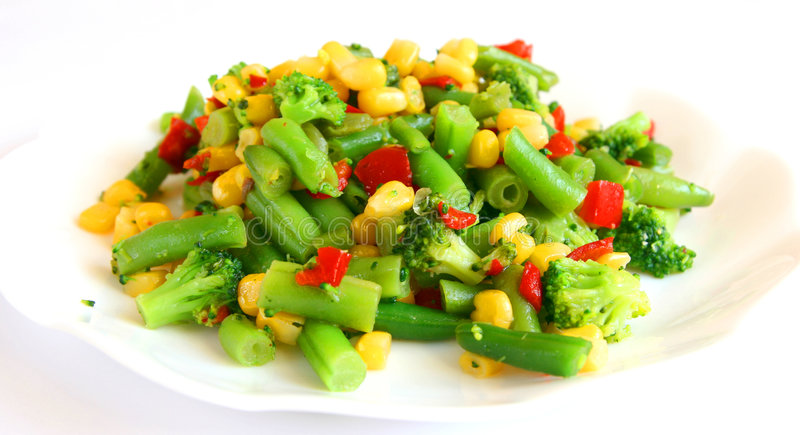Mix of cooked vegetable royalty free stock photos