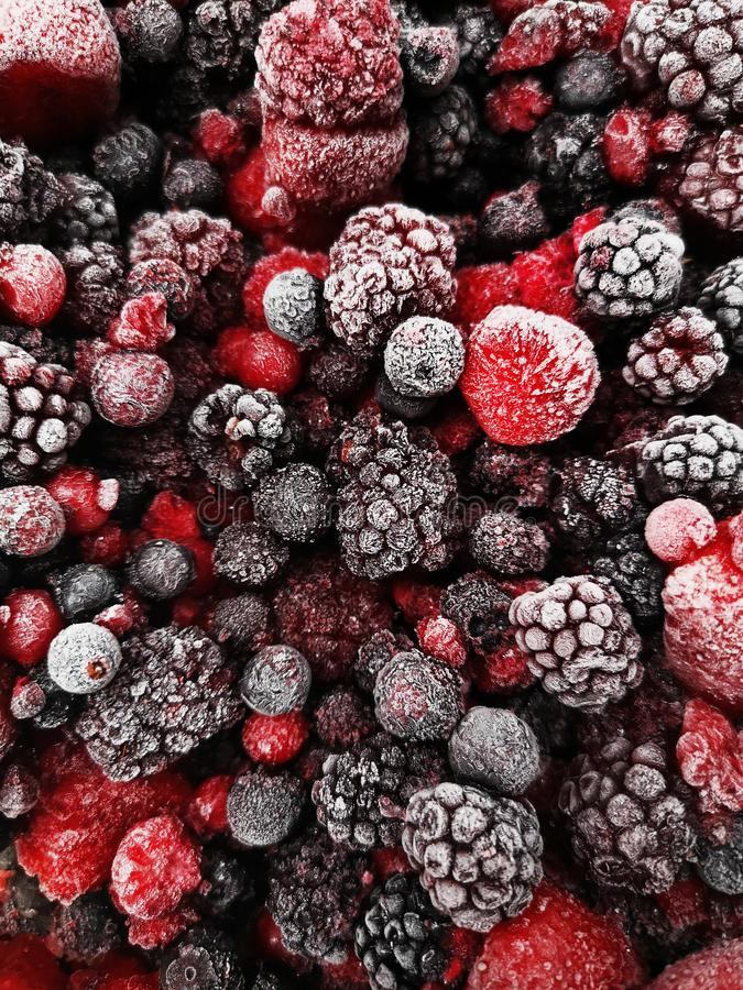 Mix of different berries. For background royalty free stock images
