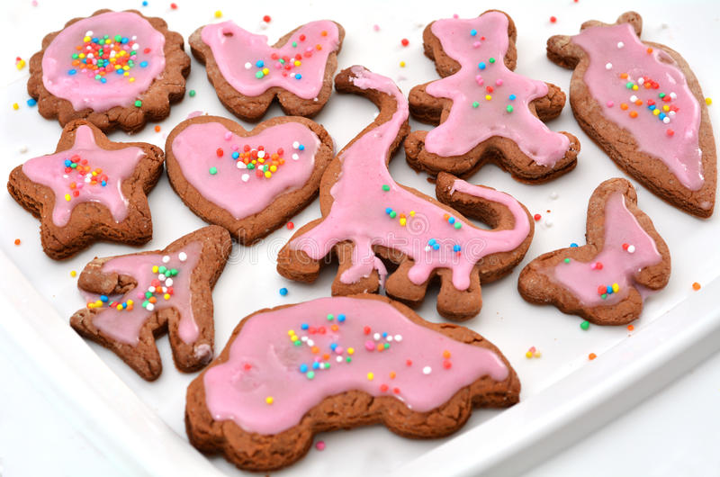 Mix of different children cookies stock photos