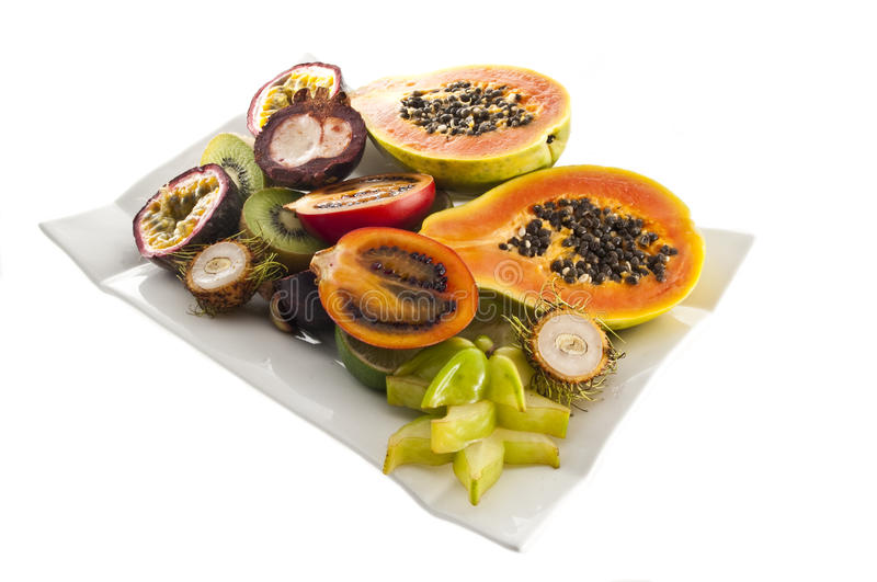 Download Mix of exotic's fruits. stock photo. Image of isolated - 10752176