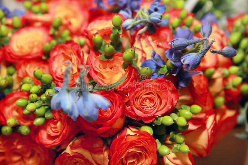 Download Mix of flowers stock photo. Image of berries, decoration - 13049794