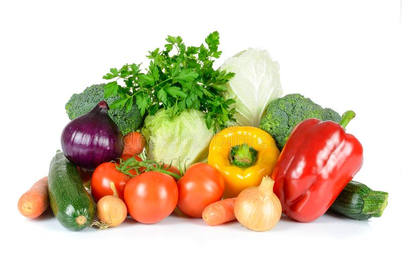 Mix of fresh vegetables stock images