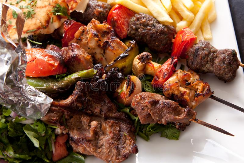 Mix grilled stock image