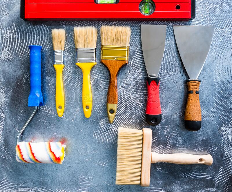 Mix of handle working tools royalty free stock images