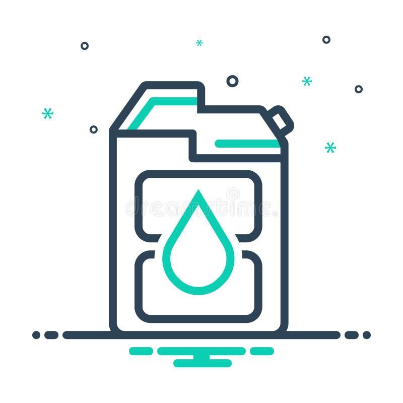 Mix-Icon für Diesel, Kraftstoff und Benzin vektor abbildung