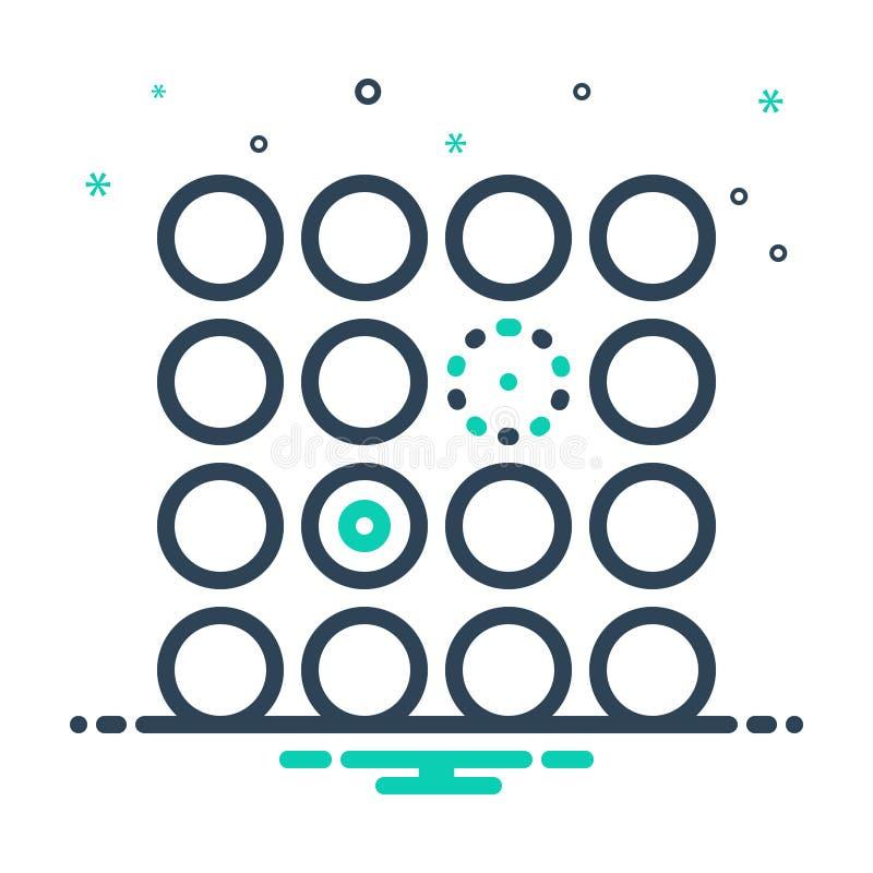 Mix Icon für Differentient, Schwierigkeiten und Unterscheidung lizenzfreie abbildung
