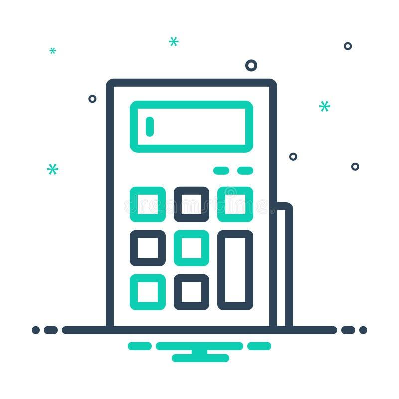 Mix-Icon für Rechner, Buchhaltung und Berechnung stock abbildung