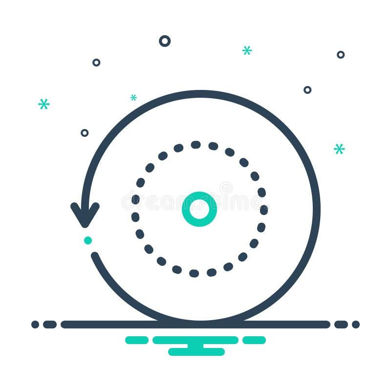 Mix-Icon für Rollover, Reload und repetitive Aufgaben lizenzfreie abbildung