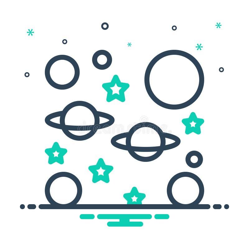 Mix-Icon für unendlich, endlos und unbegrenzt lizenzfreie abbildung