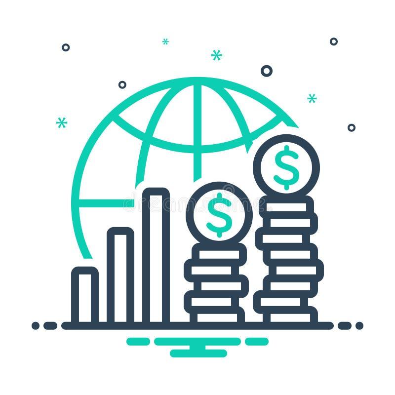 Mix ikon för ekonomi, finans och investeringar royaltyfri illustrationer