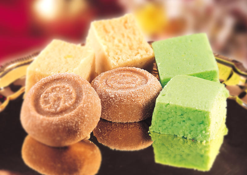 Mix Mava Sweets stock image