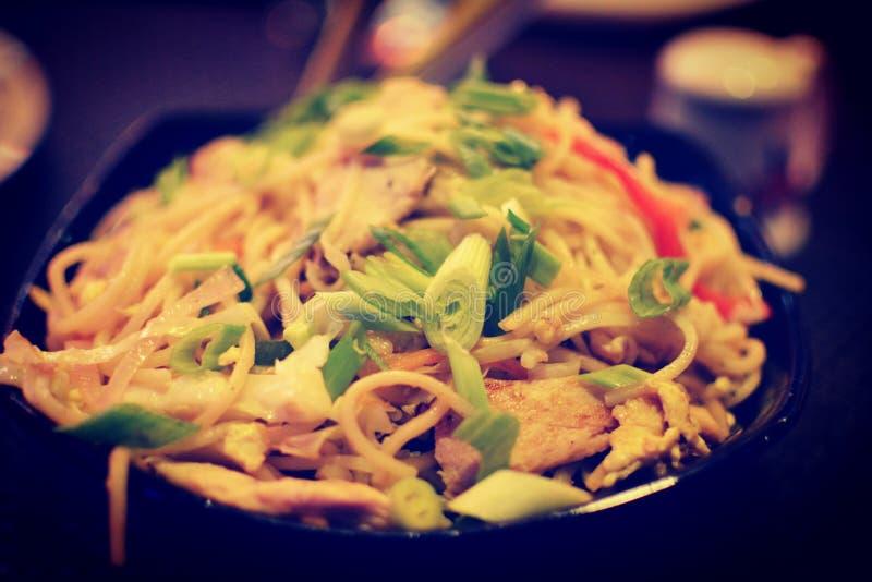 Mix noodles stock photo