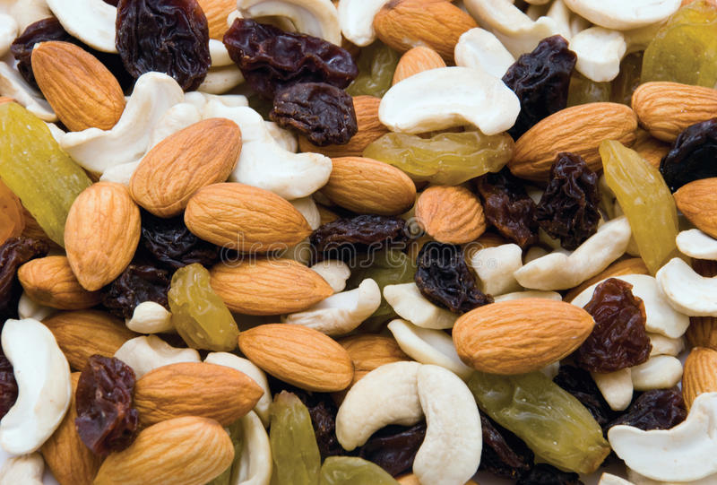 Download Mix of nuts and raisins stock image. Image of background - 10072763