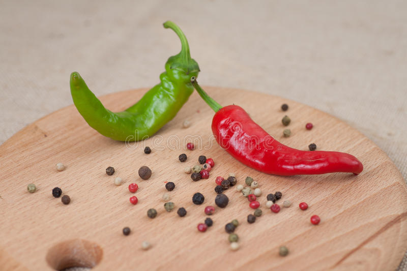 Mix of peppers 1 royalty free stock photos