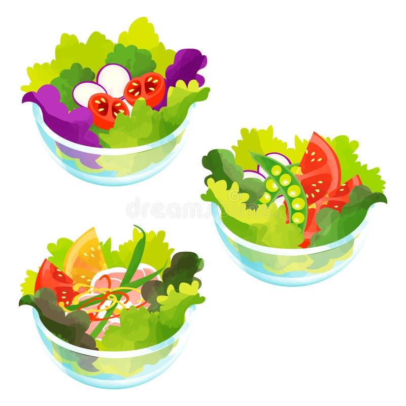 Mix salads stock images