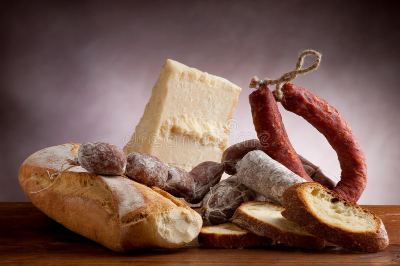 Mix of salami royalty free stock photos