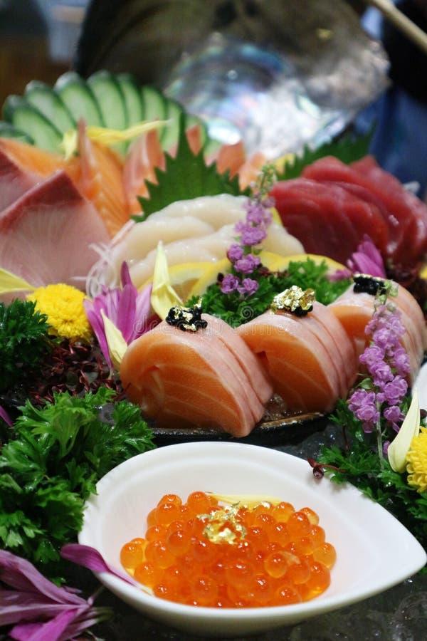 Mix Sashimi Japanness food for goo health. Mix Sashimi Japanness food for good health and delicious royalty free stock image