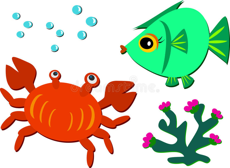 Download Mix of Sea Life stock vector. Image of group, background - 22472078
