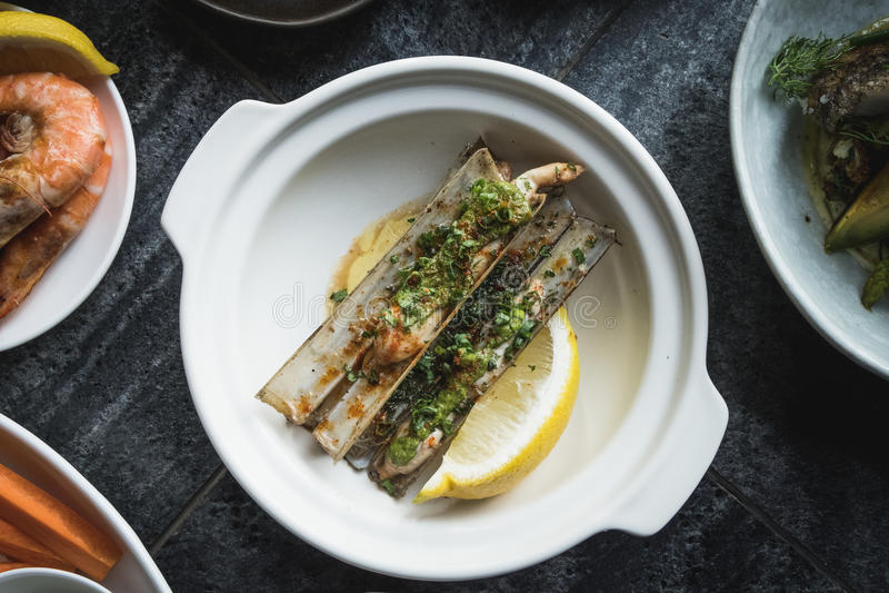 Mix of Seafood Set Menu fresh royalty free stock images
