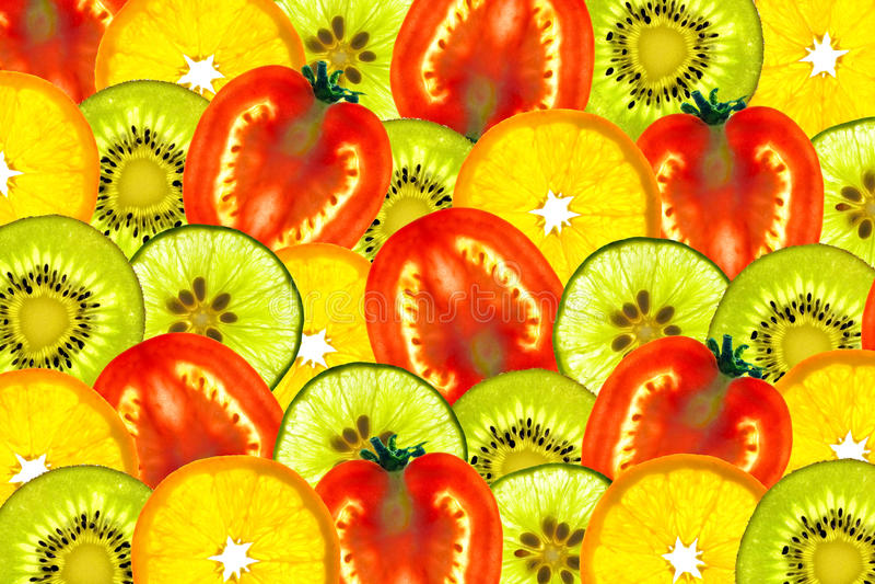 Mix Sliced Fruit Stock Photos