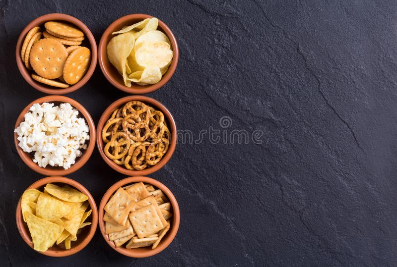 Mix of snacks royalty free stock images