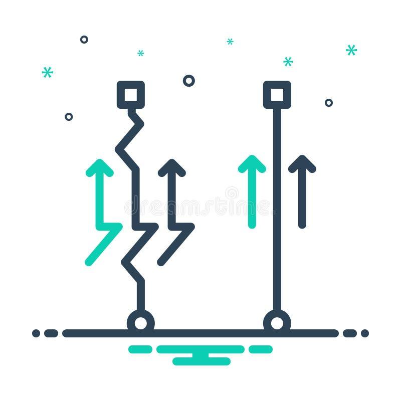 Mix-Symbol für Einfach, einfach und bequem lizenzfreie abbildung