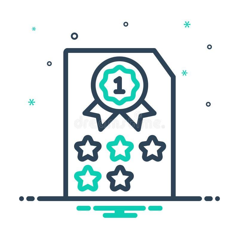 Mix-Symbol für Rank, Klasse und Kategorie stock abbildung