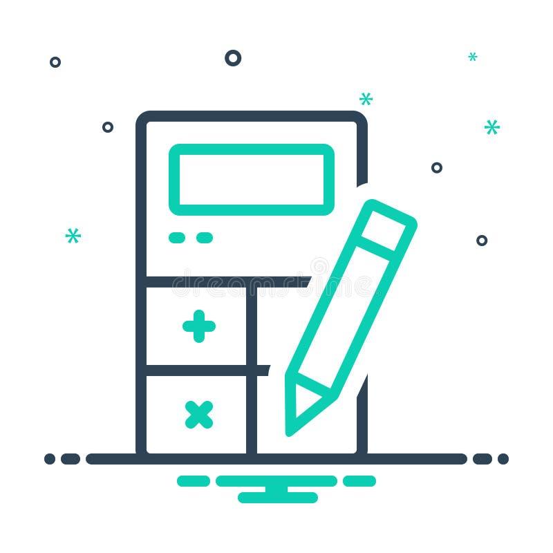 Mix-Symbol für Rechnungslegung, Berechnung und Quittung stock abbildung