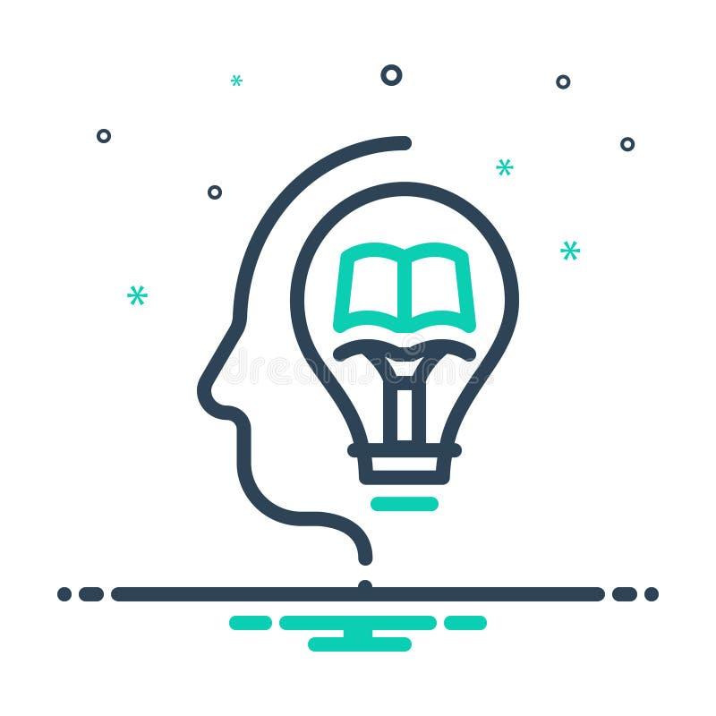 Mix-Symbol für Wissen, Wissen und Witz vektor abbildung
